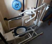 Ardoo Caresafe 140 Portable Hoist — in bathroom Toilet