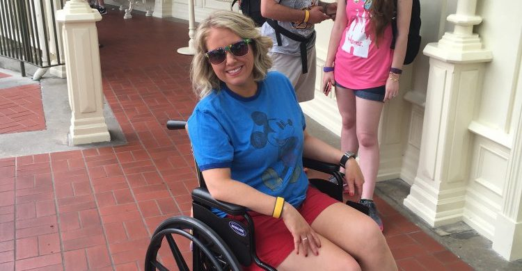 Tiffany at Walt Disney World with her wheelchair