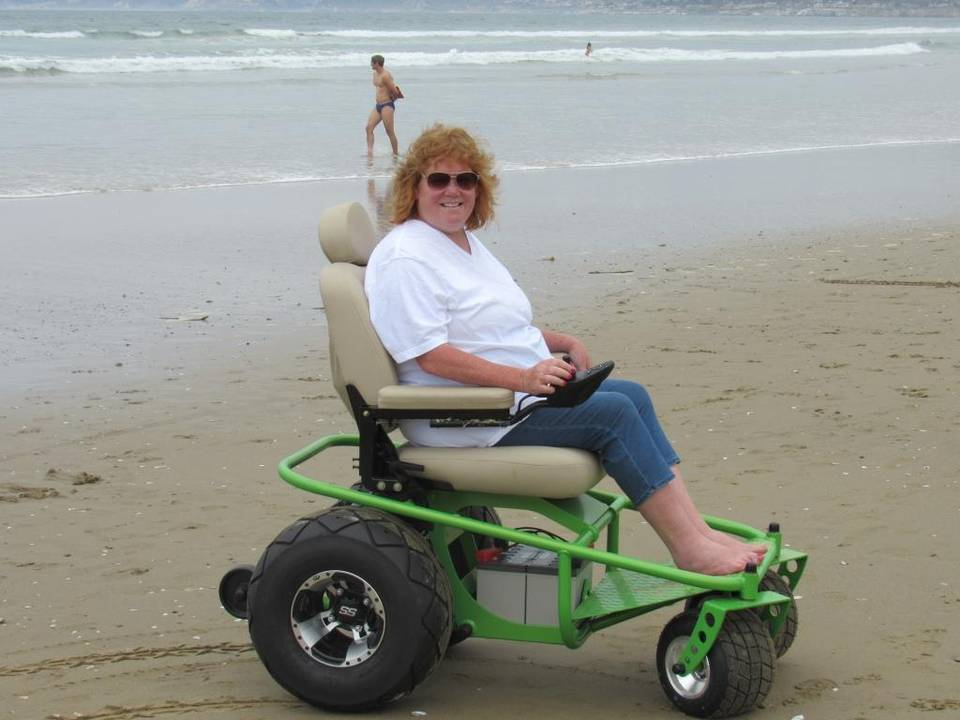beach business rents motorized beach wheelchairs